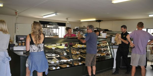 Oliver's Bakery in Whangamata were rushed off their feet in their efforts to raise funds for the Kaikoura Bakery. Photo/Supplied