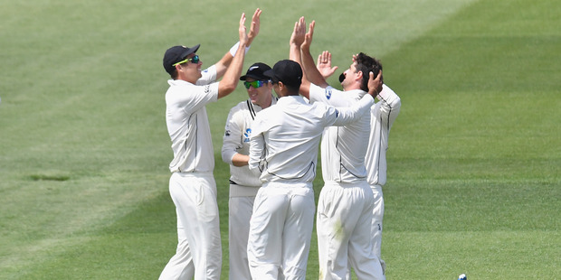 Pakistan pulled themselves back into the second test against New Zealand with a spirited batting display on the third morning at Seddon Park today. Photo / Getty Images.