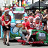 The Christmas spirit was out in full force as floats made their way through Napier.