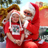 Six-year-old Lacey Hacker was lucky enough to meet the big man in red.