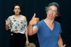 Summer Millett and Tania Davidson preapre for Milk & Honey - the first Northland production to include sign language as a central element. Photo / Michael Cunningham