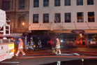 The fire at the historic Allbell Chambers was one of three started in Dunedin. Photo / Otago Daily Times
