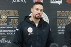 Boxer Joseph Parker talks to the press today ahead oh his heavyweight title fight against Ruiz