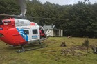 Staff from the Nelson Marlborough Rescue Helicopter said the man sought shelter overnight at Tarn Hut before trying to continue on this morning. Photo / Supplied