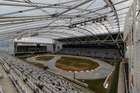 Forsyth Barr Stadium is being converted into a drifting track. Photo / Simon Chapman