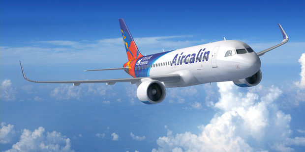 A computer rendering of a new Airbus A320 for New Caledonia's Aircalin