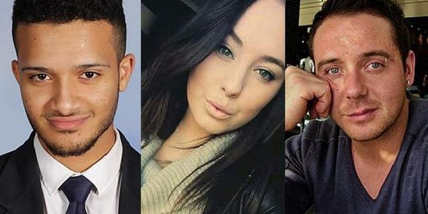 Victims Omar Moujalled, Hope Carnevali and Apollo Papadopoulos. Photos / via Facebook