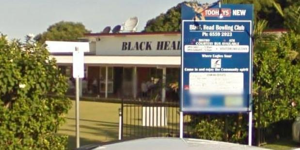 The accident happened outside the Black Head Bowling Club. Photo / Google