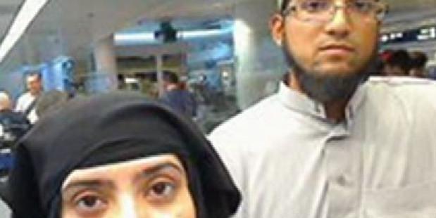 Tashfeen Malik and Syed Rizwan Farook were responsible for the San Bernardino shootings. Photo / Supplied