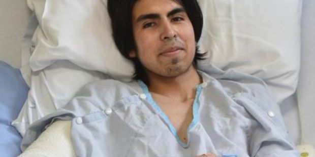 Daniel Figueroa says he was in agony after his right arm was crushed in a tortilla conveyor belt and his screams went unheard for 15 minutes. PHOTO: PETER MCINTOSH / ODT