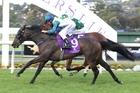 Coldplay strides past Ronchi to win the Eagle Technology Stakes at Ellerslie on Saturday. Photo / Trish Dunell