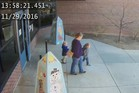 An image, clipped from surveillance camera footage, shows the two Laber boys. Photo / Twitter