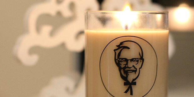 KFC New Zealand is giving away a scented candle to one of its social media followers. Photo / KFC