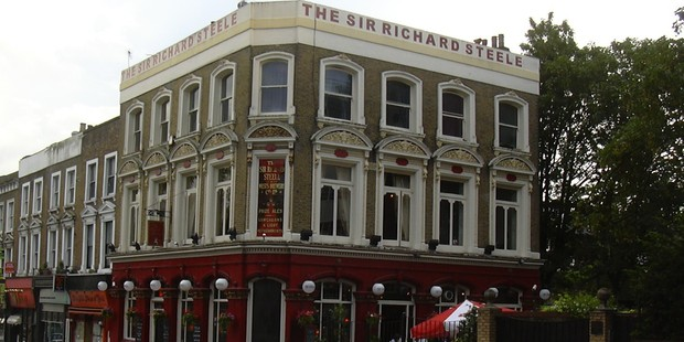 The Sir Richard Steele pub in London. Photo / Creative Commons image by Wikimedia user A Bit Iffy