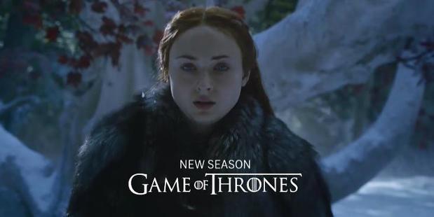 Sansa Stark appears in the new teaser trailer for Game of Thrones season 7. Photo / HBO