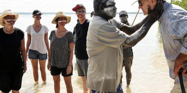 Timmy invites the group to join his family for a fish. Photo / SBS
