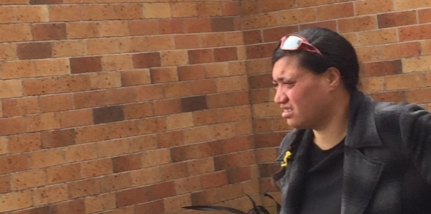 Alleged drink driver Sharlene Takiari outside the Huntly District Court today. Photo / Belinda Feek