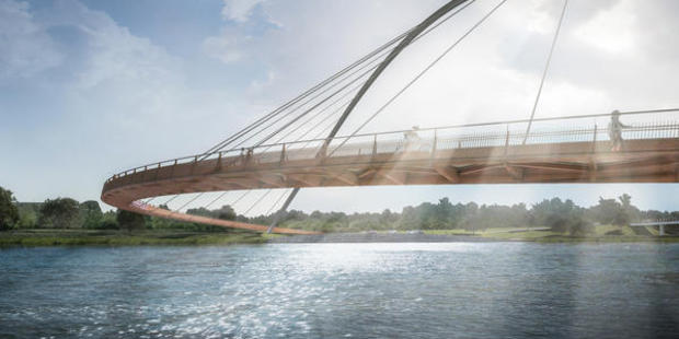 """It is hoped an """"iconic"""" cycle and walking bridge over the Wairoa River will become a tourist attraction contributing to the Bay economy. Photo/Supplied"""