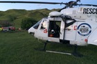 CRASH: The Palmerston North Rescue Helicopter (pictured) and the Lowecorp Hawke's Bay rescue Helicopter both attended the crash on Waimarama Rd last night. PHOTO/SUPPLIED.