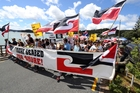 Marchers in last year's hikoi focused on oil exploration off Northland's west coast, near Te Tii Marae. Photo / John Stone