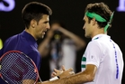 Novac Djokovic (left) is congratulated by Roger Federer after their semifinal at the Australian Open.