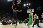 Breakers big man Charles Jackson rises for a slam dunk against the Crocs. Photo / photosport.nz