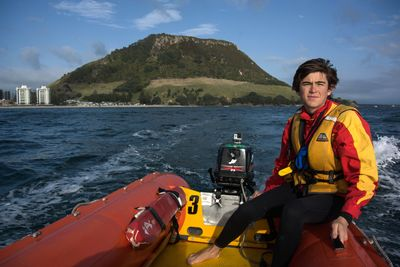 Mount Maunganui lifeguard Hamish Rieger. Photo by Jamie Troughton/Dscribe Media Services