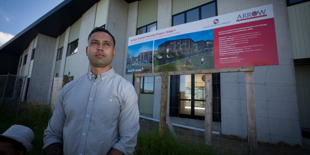 Ngarimu Blair outside the new housing development being built on Ngati Whatua land in Orakei. Photo / Dean Purcell