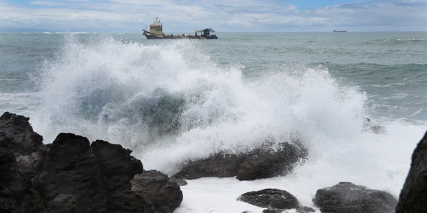 Loading Mauao base track was close a few days ago due to large waves. Photo/George Novak