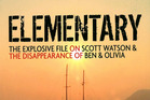Asection of the cover of the book Elementary by Ian Wishart - The Explosive File on Scott Watson and the Disappearance of Ben Smart and Olivia Hope. Image / supplied