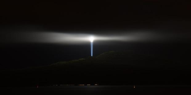 Daniel Adams took this photo last night of strange lights on Rangitoto.