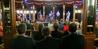 Irish band Roesy and the Seisiun opening the inaugural Hawke's Bay Arts Festival in the famous Spiegeltent.