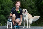 Keryn Fiske with her two dogs Olli (left) and Tempo. Photo / Ben Fraser