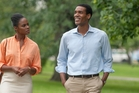 Tika Sumpter plays Michelle Robinson while Parker Sawyers nails the role of Barack Obama.  Photo / AP