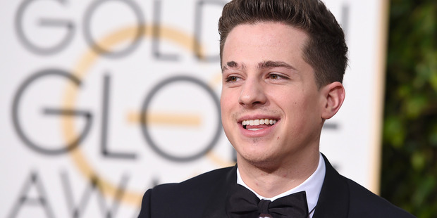 Charlie Puth arrives at the 73rd annual Golden Globe Awards. Photo / AP
