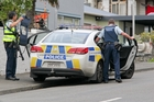 Officers on the hunt in Napier after a police pursuit yesterday.
