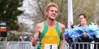 Last year's half marathon men's category winner Aaron Pulford.