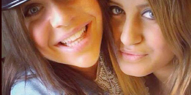 Tragedy: Alexandra Mezher, right with her best friend Lejla Filipovic at their high school graduation in 2012. Photo / AP
