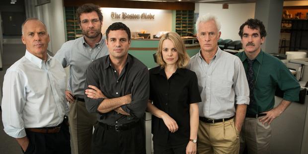 The cast of the film, Spotlight.