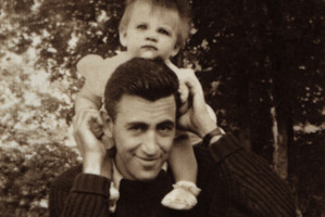 JD Salinger with his daughter Margaret in one of the few photos of the reclusive author. Photo / file