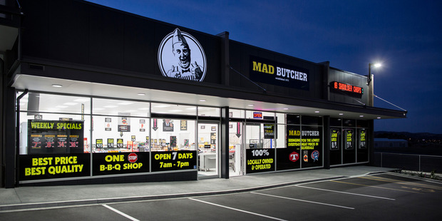 Veritas' assets include the Mad Butcher franchise, Nosh food stores, Better Bar Company and meat patty supplier Kiwi Pacific Foods. Photo / Supplied