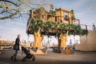 An African treehouse currently resides in the heart of London. Photo / Virgin Holidays