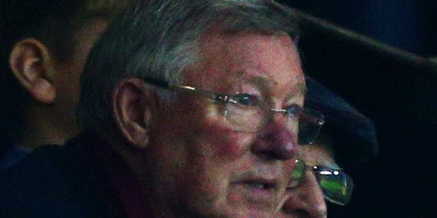 "Some Twitter users claim Sir Alex Ferguson was caught on camera mouthing ""he's gone"", in reference to Manchester United's current boss Louis van Gaal. Photo / Getty Images."