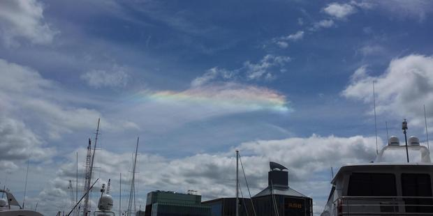 "The phenomenon is also known as a circumhorizontal arc or ""ice halo"". Photo / Supplied, Rachel Purcell"