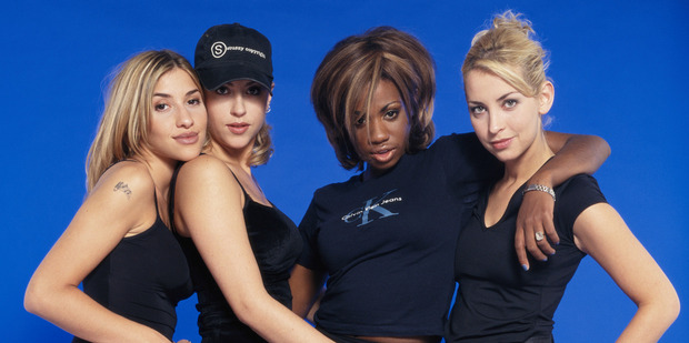 English-Canadian girl group All Saints, Melanie Blatt, Nicole Appleton, Shaznay Lewis and Natalie Appleton, circa 1995. Photo / Getty Images