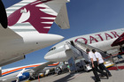 A Boeing 777-200LR aircraft that Qatar Airways says will fly the new route. Photo / Getty Images