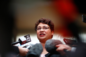 In her State of the Nation speech this afternoon in Wellington, Metiria Turei reached out to voters who had reservations about her party. Photo / Getty Images