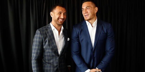 Sonny Bill Williams has also encouraged Quade Cooper to try his luck with the Australian Thunderbolts. Photo / Getty Images