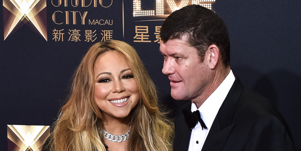 US singer Mariah Carey and James Packer. Photo / Getty Images