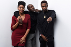 Actors Emayatzy Corinealdi, Don Cheadle and Keith Stanfield from the film Miles Ahead, a warts-and-all account of musician Miles Davis, which made its debut at Sundance. Photo / Getty